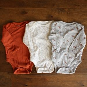 Fall and Fox Themed Onesies